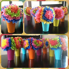 tissue paper flower centerpiece ideas neat idea for some tables cinco de mayo centerpieces mexican