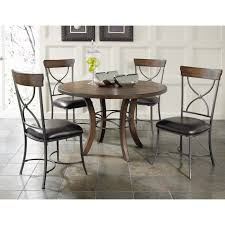 Metal Kitchen Table And Chairs Round Wood Counter Height Dining Table Wood And Metal Construction