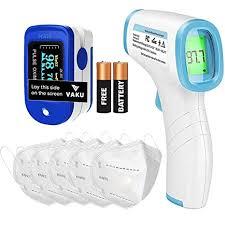 DR VAKU® <b>3in1</b> Combo Fingertips Pulse Oximeter, <b>Non</b>-<b>Contact</b> ...
