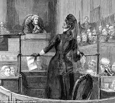 florence reading her statement in court