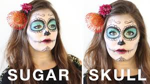simple sugar skull day of the dead makeup tutorial lece taylor you
