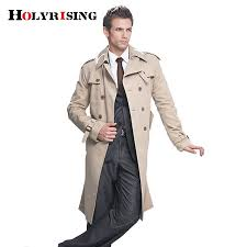 2018 trench coat men classic double ted mens long coat mens clothing long jackets coats british style overcoat s 6xl size from felix06