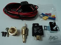 dual electric fan spal wiring relay harness kit 185fh frh • 74 55 electric fan wire harness kit complete thermostat 50 amp relay 185° wiring 350