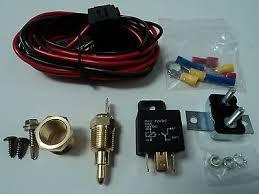 dual electric fan spal wiring relay harness kit fh frh bull  electric fan wire harness kit complete thermostat 50 amp relay 185acircdeg wiring 350