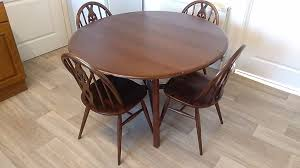 vintage ercol dining table 4 dining chairs ash elm
