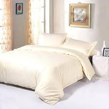 high quality cotton 1cm stripe plain solid white beige queen king hotel bedding set duvet cover