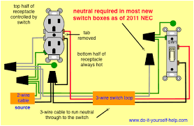 light switch wiring diagrams do it yourself help com 3 Wire Electrical Outlet new diagram, split receptacle wire electrical outlet 3 wire