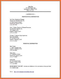 Reference Page Format Resume 12 Examples Of References Sample