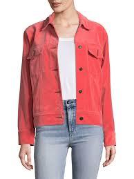 rag bone jean oversized velvet jacket washed red women s jackets vests novelty