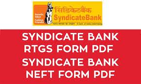 Syndicate Bank Syndicate Bank Rtgs Form Pdf Syndicate Bank Neft Form Pdf