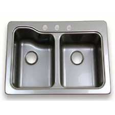Lippert Components 209586 Sink Better Bath Double Kitchen Sink 24 3