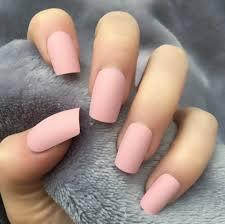 Light Pink Matte Nail Polish Baby Pink Matte Short Square