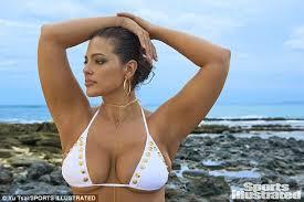 plus size models sports illustrated plus size model ashley graham flaunts curves in tiny bikini for