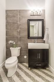 Powder Room Design Ideas Contemporary Powder Room With Bellaterra Home Ramsey 32 Single Bathroom Vanity Set Limestone Tile