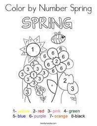 spring color sheets.  Color Color By Number Spring Coloring Page  Twisty Noodle Inside Sheets S