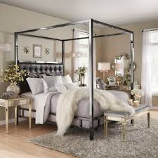 Solivita King-Sized Canopy Black Nickel Metal Poster Bed by INSPIRE Q -  Free Shipping Today - Overstock.com - 20695149