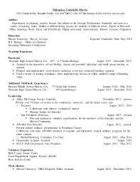 Biology Teacher Resume Sample Resume For Elementary Teacher Sample ...