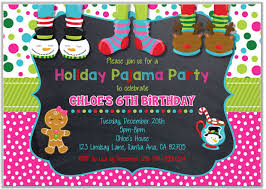 Christmas Holiday Invitations Christmas Holiday Pajama Party Invitations