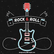 black background design music. Simple Black Black Background With Electric Guitar In Flat Design Free Vector Inside Background Design Music K