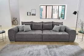 Lifestyle4living Big Sofa Grau Microfaser Xxl Sofa Mit