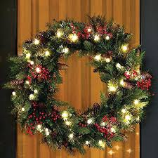 outdoor lighted wreaths for windows home battery lit