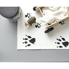 paw print rug brown indoor outdoor bear rugs