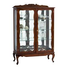 Queen Anne China Display Cabinet 2 Door 3 Shelves