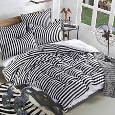 black and white striped bedding queen simple classic stripe bedding set with sheets soft modern duvet