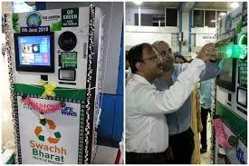 Vending Machines In India Best Indian Railways' Goes Green Installs Bottle Recycling Machine At