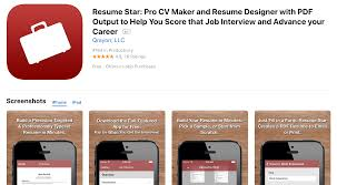 5 Best Free Resume Builder Apps For Iphones Ios 2018