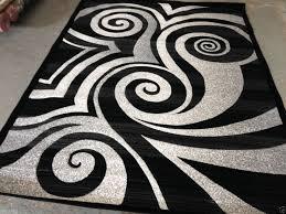 black and white area rug. modern circle area rug black white gray circles swirls brush and 0