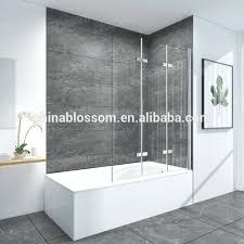 frameless bath shower screen approved competitive bath tub shower door with fully tempered glass we