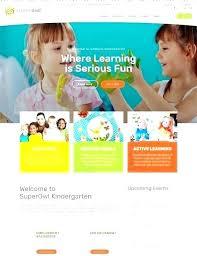 Kids School Website Template Elementary School Website Template