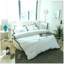 tassel duvet cover classic white cotton round bed hotel bedding set new taste bed linens tassels tassel duvet cover