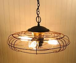 homemade lighting fixtures. Creative DIY Lamp Design From Second Hand Items: Vintage Fan Light Fixture ~ Nidahspa. Homemade Lighting Fixtures