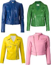 catchy color women s leather jackets 2016