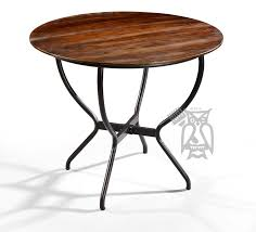 solid sheesham wood 36 round table with metal