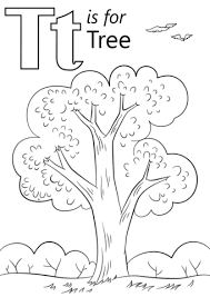 Small Picture Letter T is for Tree coloring page Free Printable Coloring Pages