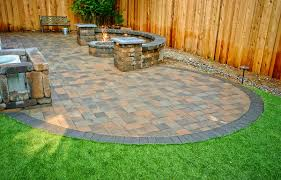 Backyard Designs Using Pavers Paver Stone Patio Installation Vulcan Design Construction