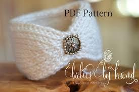 Crochet Baby Headband Pattern Extraordinary Tunisian Crochet Headband Pattern Baby Crochet Headband Etsy