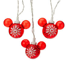 Mickey Shaped Christmas Lights Disney String Lights Mickey Mouse Icons 8 Red Icons