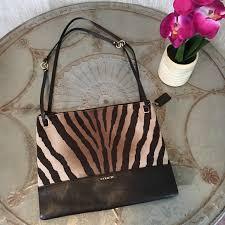 Coach Madison Zebra Convertible Hippie Bag 51086