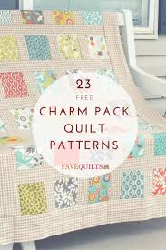 23 Charm Pack Quilt Patterns | Small quilt projects, Charm quilt ... & 23 Charm Pack Quilt Patterns Adamdwight.com