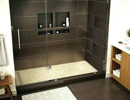 cost to replace shower stall with tile install pan of replacing large size jetted base ideas