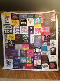 Custom Tshirt Quilt - like the alternating blue and orange sashing ... & My Sigma quilt! Love it! Adamdwight.com