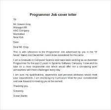 Programmer Cover Letter Sample Clerical Job Template Resume Samples ...