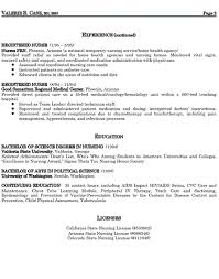 sample health nurse resume