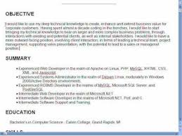 Strong Resume Objective
