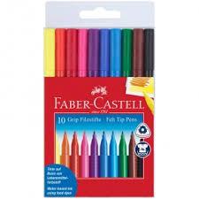 "<b>Фломастеры Faber-Castell</b> ""<b>Grip</b>"" <b>10</b> цветов трехгранные ..."
