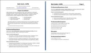 Brilliant Decoration 2 Page Resume Format Resume Template How To